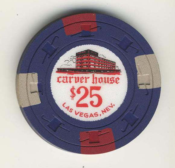 Carver House $25 (navy 1961) Chip - Spinettis Gaming - 1
