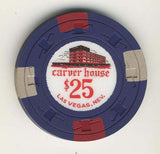 Carver House $25 (navy 1961) Chip - Spinettis Gaming - 2