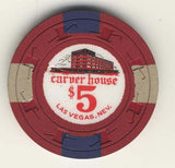 Carver House $5 (red 1961) Chip - Spinettis Gaming - 1