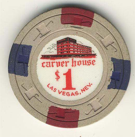 Carver House $1 (beige 1961) Chip - Spinettis Gaming - 1
