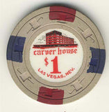 Carver House $1 (beige 1961) Chip - Spinettis Gaming - 2