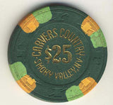 Carvers Country $25( green 1983) Chip - Spinettis Gaming - 2