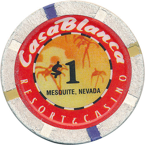 Casablanca, Mesquite NV $1 Casino Chip - Spinettis Gaming - 1