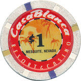 Casablanca, Mesquite NV $1 Casino Chip - Spinettis Gaming - 2