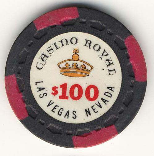 Casino Royal $100 (black 1970) Chip - Spinettis Gaming - 1