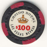 Casino Royal $100 (black 1970) Chip - Spinettis Gaming - 2