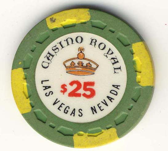 Casino Royal $25 (green 1970) Chip - Spinettis Gaming - 1