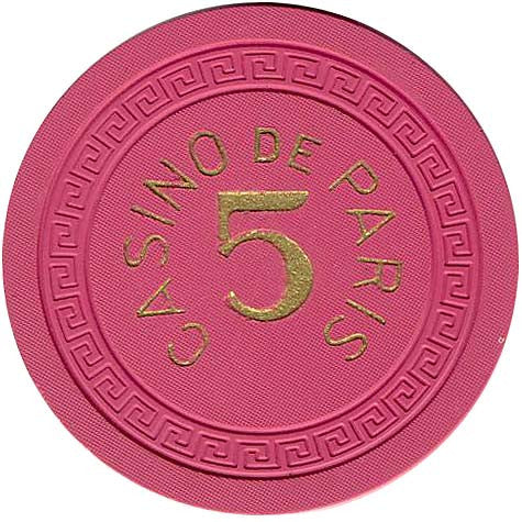 Casino De Paris 5 (pink) Chip - Spinettis Gaming - 2