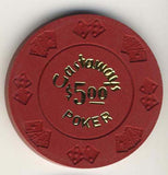 Castaways Casino (dk red) Chip - Spinettis Gaming - 1
