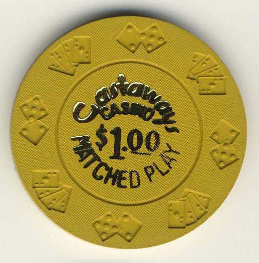 Castaways Casino $1 (yellow) Chip - Spinettis Gaming - 1