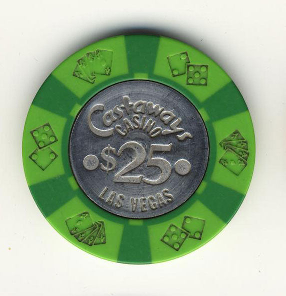 Castaways Casino Las Vegas $25 Chip 1970s