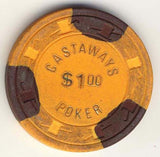 Castaways $1 (orange 1980s) Chip - Spinettis Gaming - 1