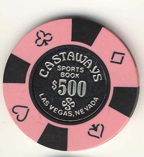 Castaways $500 (pink 1989) Chip - Spinettis Gaming - 1