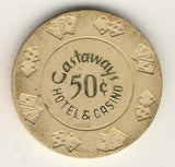 Castaways Casino 50 cent (beige) Chip - Spinettis Gaming - 2