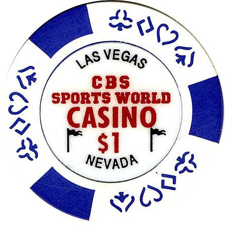 CBS Sports World Casino $1 Chip - Spinettis Gaming - 1