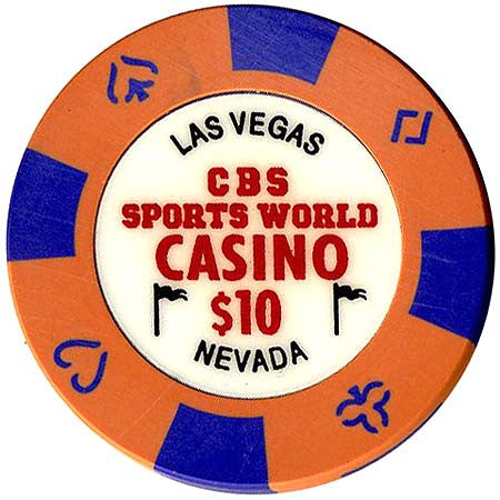 CBS Sports World Casino $10 Chip - Spinettis Gaming - 1