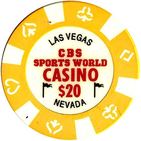 CBS Sports World Casino $20 Chip - Spinettis Gaming - 1