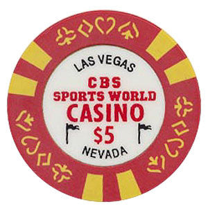 CBS Sports World Casino $5 chip - Spinettis Gaming - 1