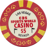 CBS Sports World Casino $5 chip - Spinettis Gaming - 2