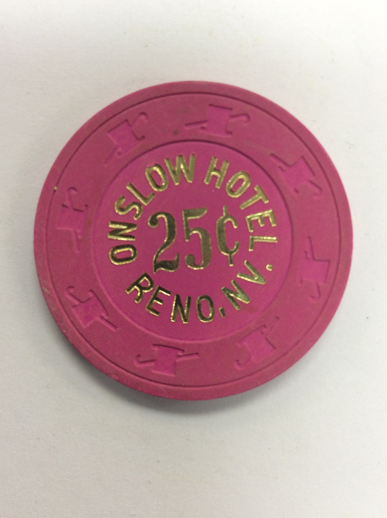 Onslow Casino 25cent (pink) chip