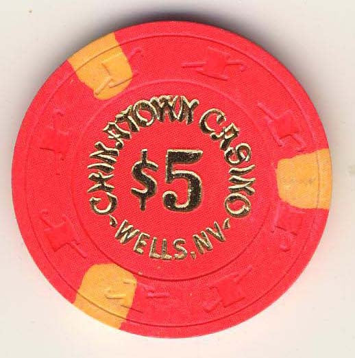 Chinatown Casino $5 (hot pink 1984) Chip