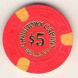 Chinatown Casino $5 (hot pink 1984) Chip - Spinettis Gaming - 1
