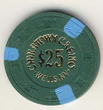 Chinatown Casino $25 (dk green 1984) Chip - Spinettis Gaming - 2