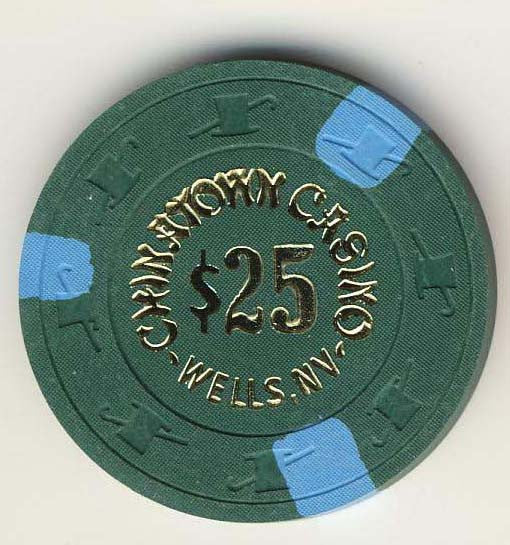 Chinatown Casino $25 (dk green 1984) Chip - Spinettis Gaming - 1