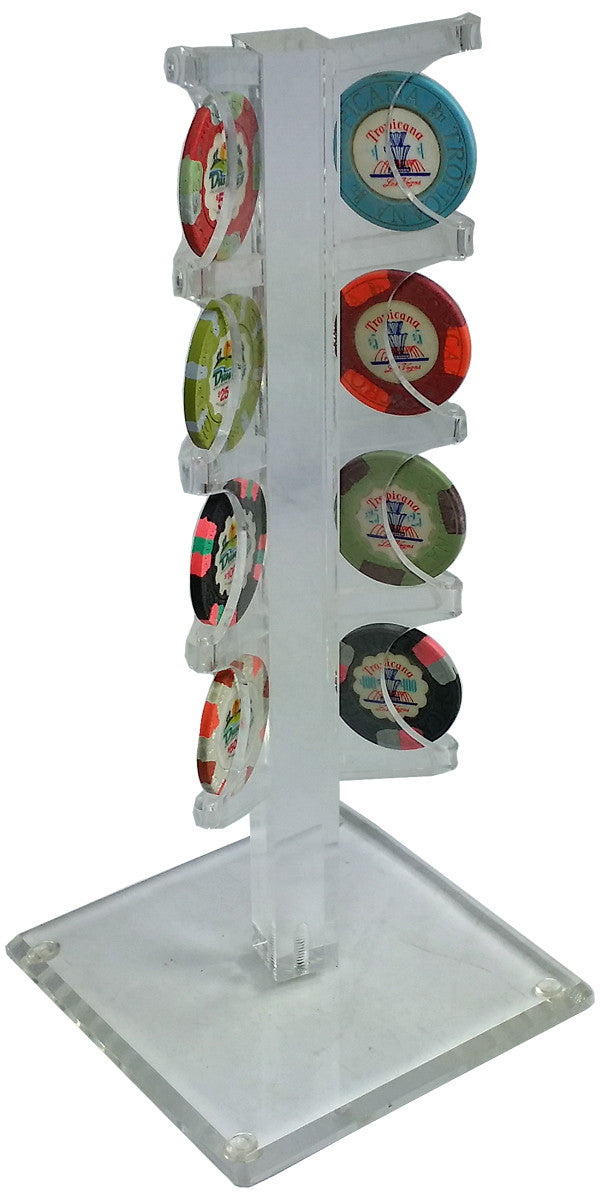 Chip Display Acrylic Tree for 8 Poker Chips - Spinettis Gaming - 3
