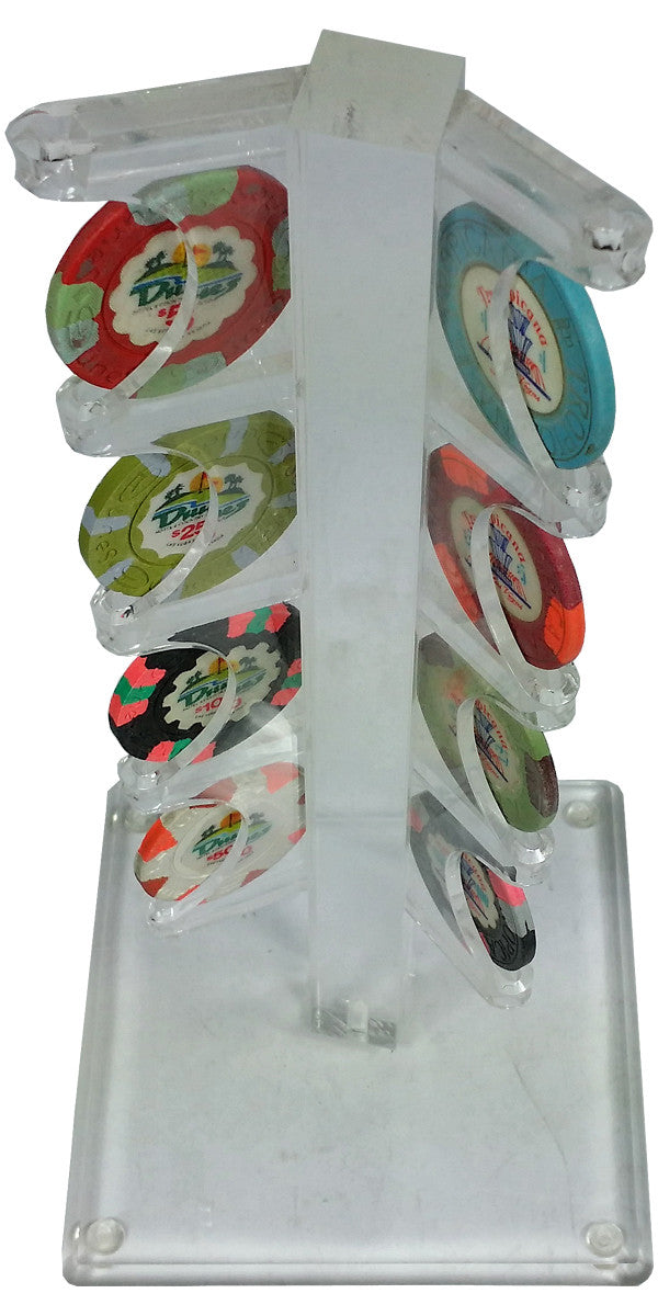 Chip Display Acrylic Tree for 8 Poker Chips - Spinettis Gaming - 4