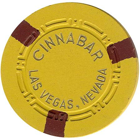 Cinnabar $5 (yellow) chip - Spinettis Gaming - 1