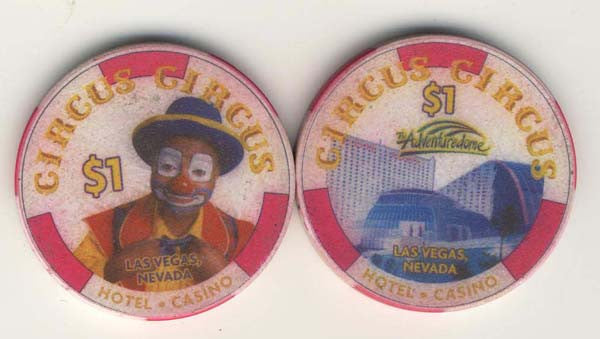 Circus Circus $1 (white 1999) Chip - Spinettis Gaming - 1