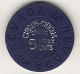 Circus Circus 5 prize unit (navy 1968) Chip - Spinettis Gaming - 1