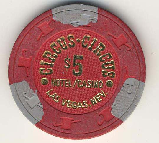 Circus Circus $5 (red 1980s) Chip
