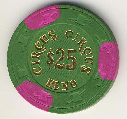 Circus Circus $25.00 Chip - Spinettis Gaming - 1