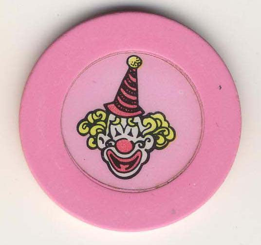 Circus Circus Casino Pink Clown Chip 1990s