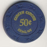 Circus Circus 50cent (navy 1997) Chip - Spinettis Gaming