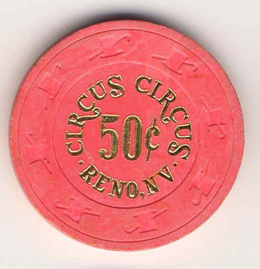 Circus Circus 50cent (pink 1980s) Chip - Spinettis Gaming