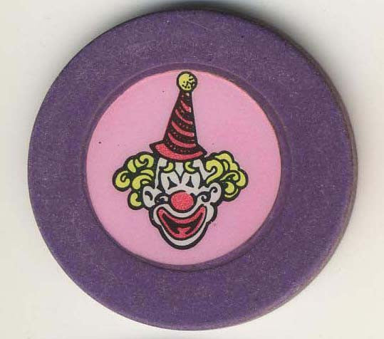 Circus Circus Casino Purple Clown Chip 1990s