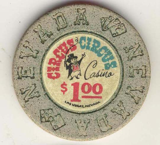 Circus Circus $1 (beige 1968) Chip - Spinettis Gaming - 2