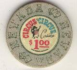 Circus Circus $1 (beige 1968) Chip - Spinettis Gaming - 1