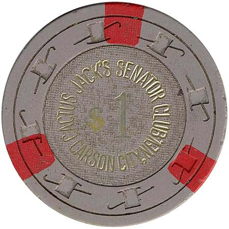 Cactus Jack's Senator Club Carson City NV $1 chip 1970s