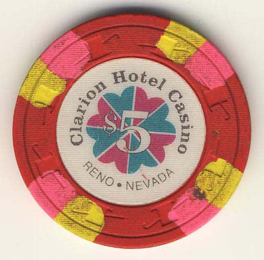 Clarion Hotel $5 (red 1991) Chip - Spinettis Gaming - 1