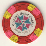 Clarion Hotel $5 (red 1991) Chip - Spinettis Gaming - 2