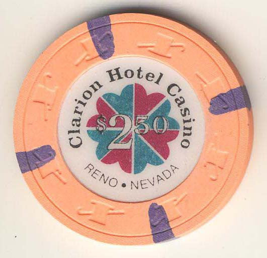 Clarion Hotel $2.50 (hot peach 1991) Chip - Spinettis Gaming - 1