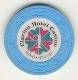 Clarion Hotel $1 (lt.blue 1991) Chip - Spinettis Gaming - 1