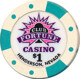 Club Fortune, Henderson NV $1 Casino Chip - Spinettis Gaming - 2