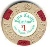 Coin Castle $1 ( beige 1970) Chip - Spinettis Gaming - 1