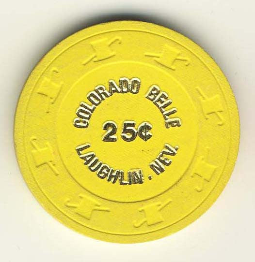 Colorado Belle 25 (yellow 1980) Chip - Spinettis Gaming - 1