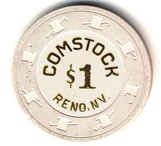 Comstock $1 (white 1998) Chip